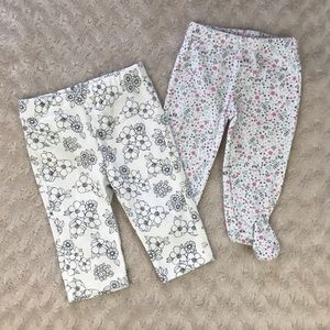 Baby Girl Floral Pants Bundle Size 3-6 Months